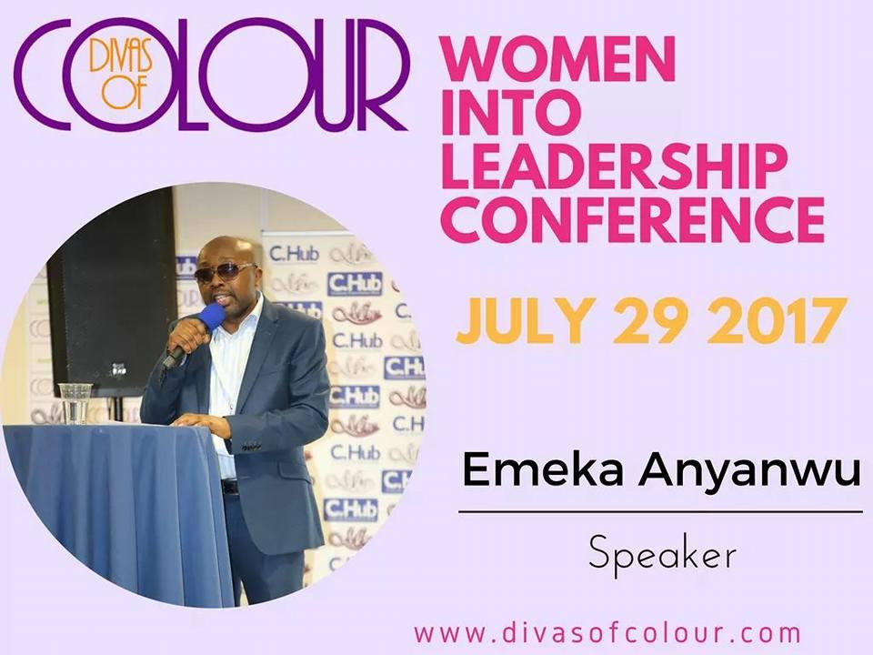 Women into Leadership speaker, Emeka Anyanwu, Publisher and motivational speaker.