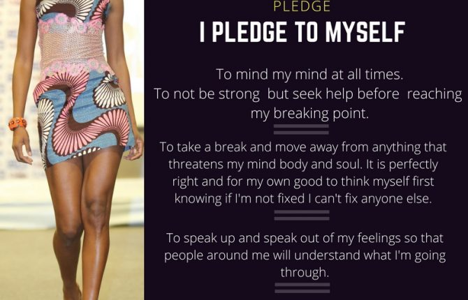Divas of Colour Mental Health Awareness Pledge.